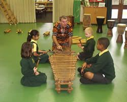 St Martins pupils playing musical instruments
